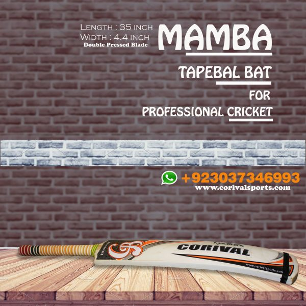 CB Mamba Rawlakot Wood Tape Ball Cricket Bat Guaranteed Bats ☑️Length: 35 inch ☑️Width : 4.4 inch ☑️Weight : 800 to 850 grams ☑️Double Pressed Wood ( Full combination for Smashing) ☑️Full Cane Handle Super comfortable Grip Call | Whatsapp | inbox +923037346993 www.corivalsports.com jawadzafar@corivalsports.com